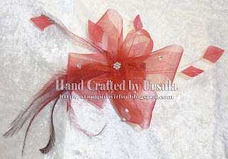 Red Organza Bow Fascinator