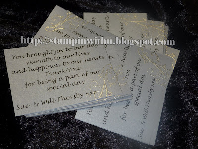 Small Thank you Cards - Silver