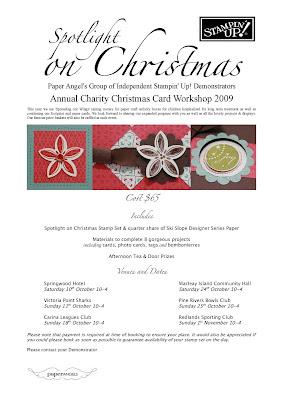 Christmas Card Marter Mothers Fund Raiser Event Flyer 2009