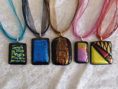 Dichroic Glass Pendants pic 5