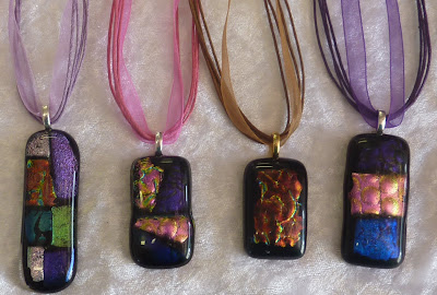 Dichroic Glass Pendants pic 2