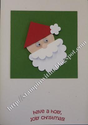 Simple Santa Punch Art Card