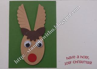 Simple Reindeer Punch Art Card