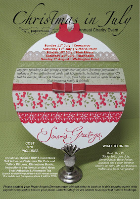 PaperANGELS Christmas in July Fundraiser Event 2010 Flyer