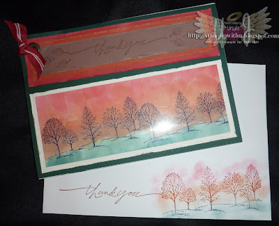 Booklet Card Sunset Trees