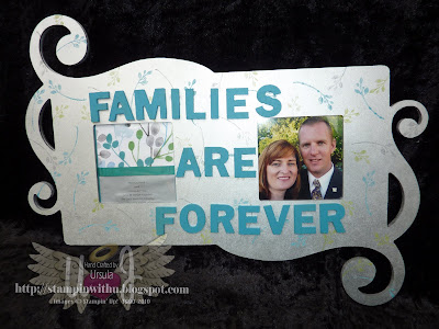Stampin on a frame with Paint