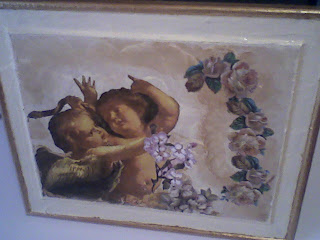 quadro con angeli e fiori
