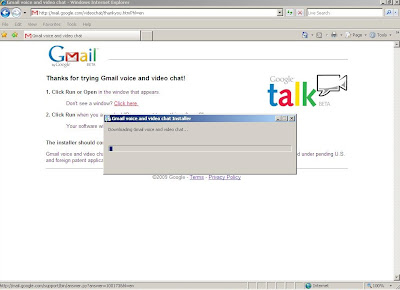 Google Voice and Video application running the installation.