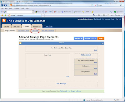 Editing HTML in Blogger.