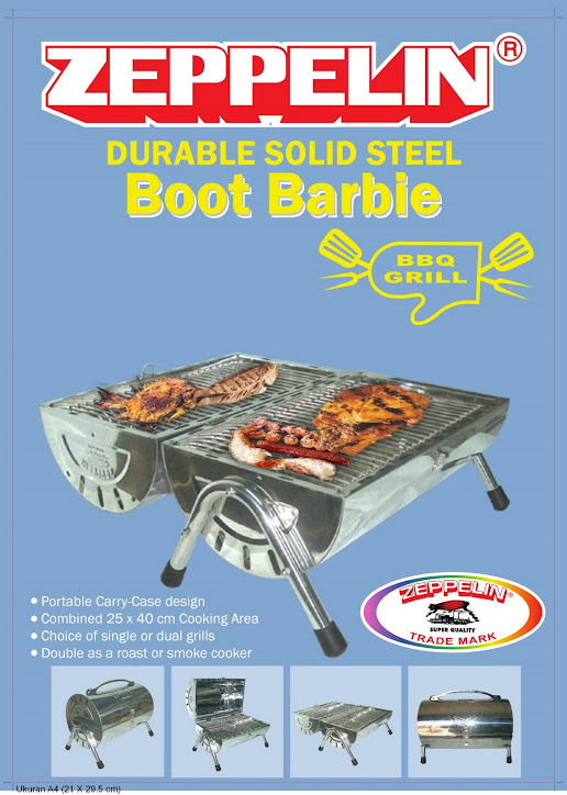 Panggangan BBQ Boot Barbie