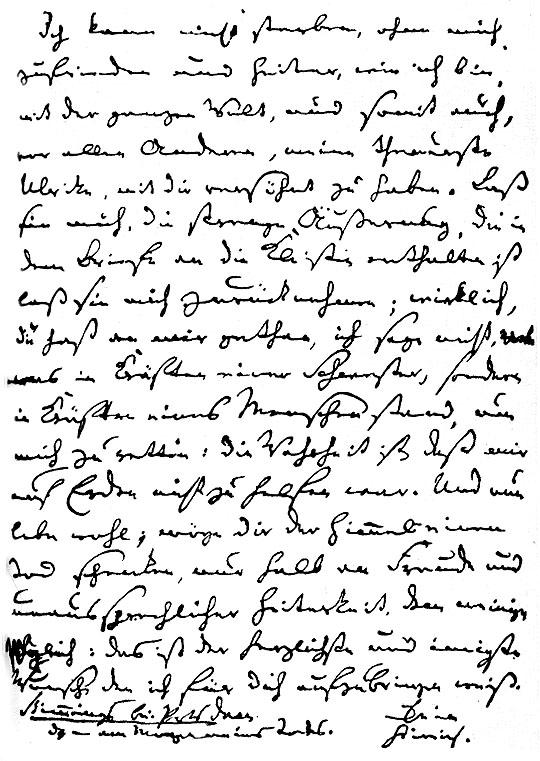 Kleists Abschiedsbrief