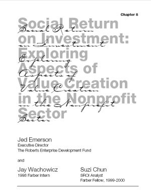 Exploring Value Creation in the Non-Profit Sector - Download White Paper