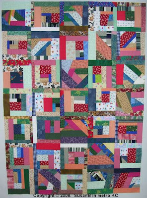 Mile-a-Minute quilt top