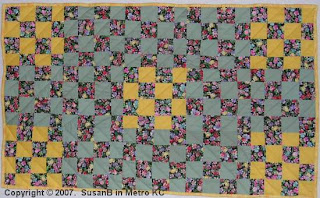 quilt with 16-patch blocks