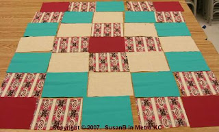 squares arranged into quilt design