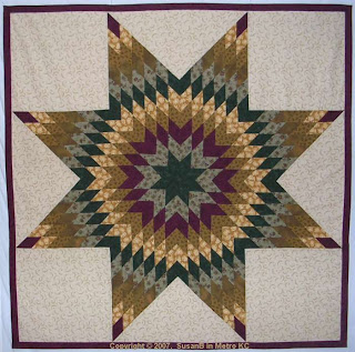 center of Lone Star quilt