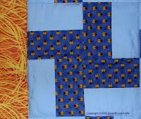 Whirlygig quilt - closeup