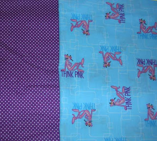 Pink Panther quilt challenge fabric