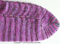 Foot of Purple Waves Sock