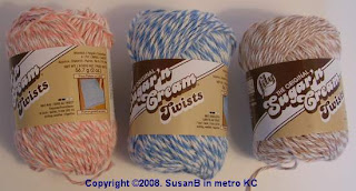Sugar & Cream Twists yarn