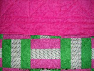 bar block quilt closeup