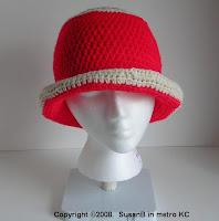 crochet hat - front view