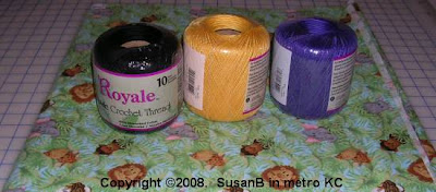 Purchases: crochet thread and fabric