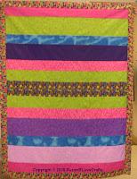 Simple Strips quilt top - SusanB