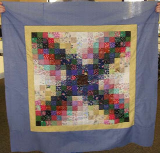 watercolor quilt top