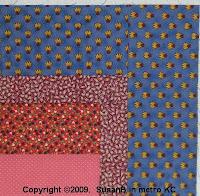 corner detail of quilt top