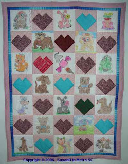 quilt with crayon blocks