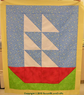 Sailboat quilt top - SusanB