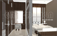 design interior kamar tidur on grey-design: Interior Kamar tidur / Bed Room