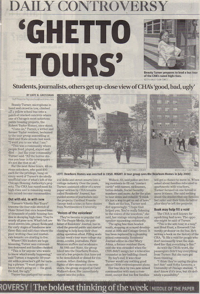 Chicago Suntimes highlights the Ghetto Bus Tours