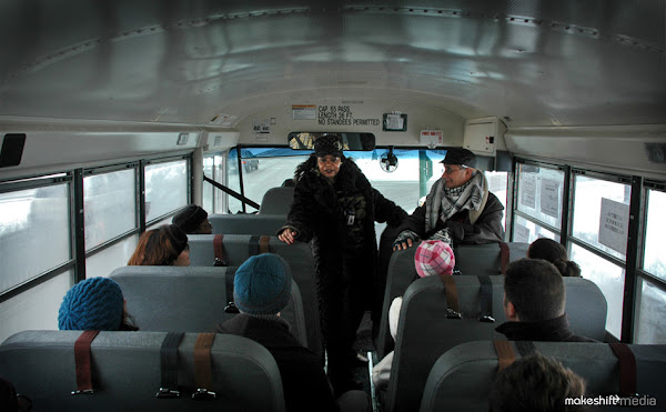 Beauty Talking To Young Artists  On  Recent Ghetto Bus Tour