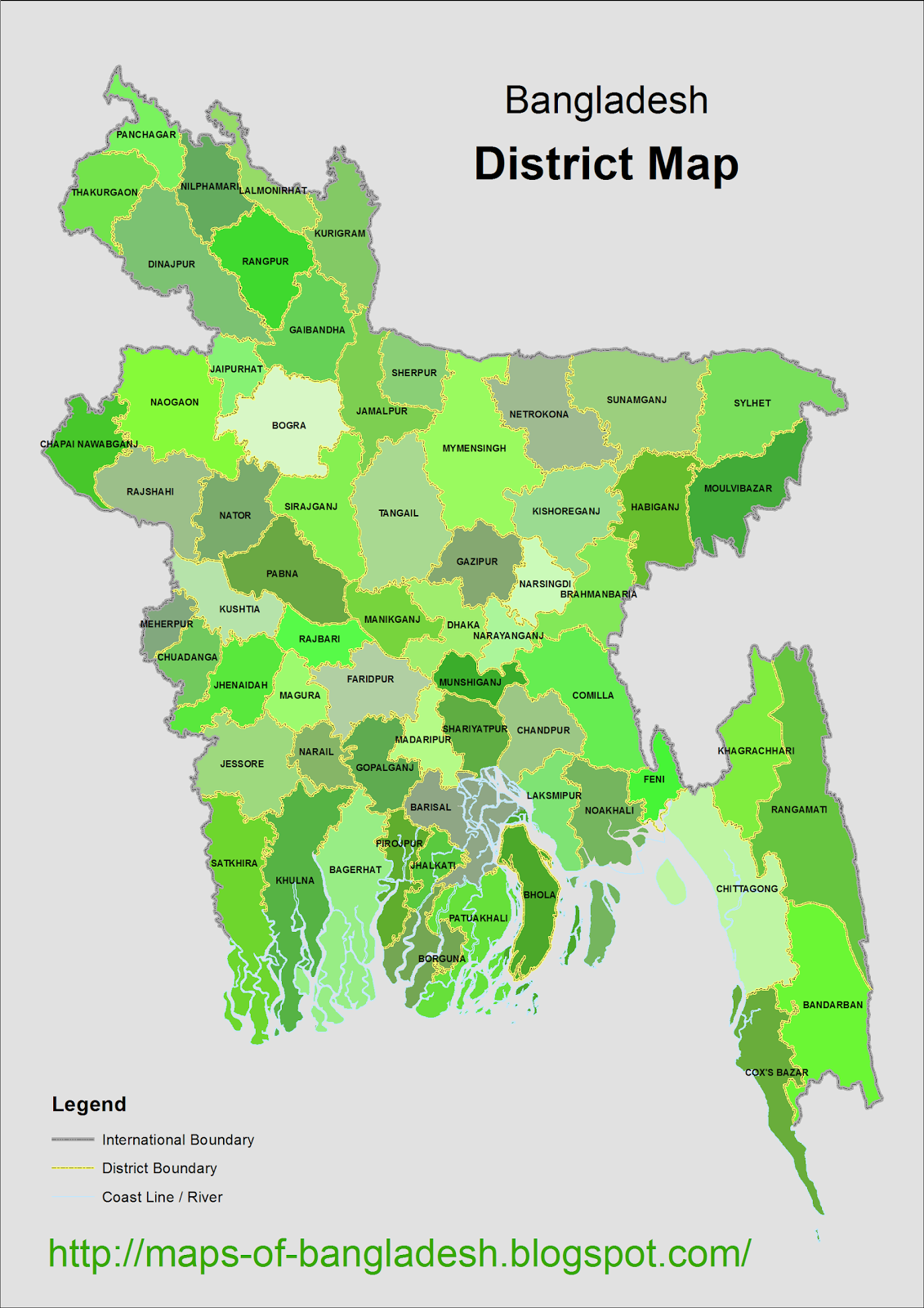 Maps of Bangladesh District Map of Bangladesh