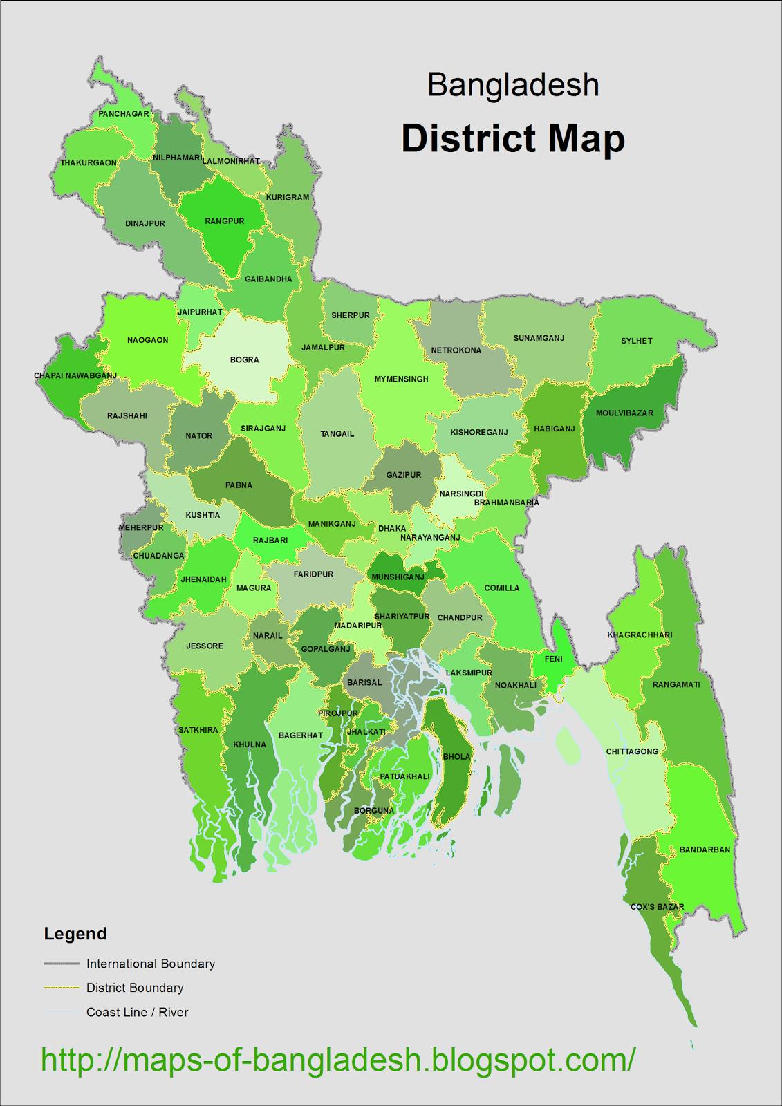 Maps Of Bangladesh District Map Of Bangladesh - Bangladesh map