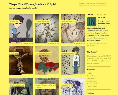 Tequilas Flamejantes Light Blogger Template