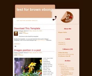 BrownEbong Blogger Template
