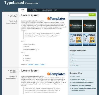 Typebased Blogger Template