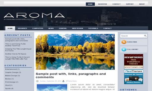 Aroma Blogger Template