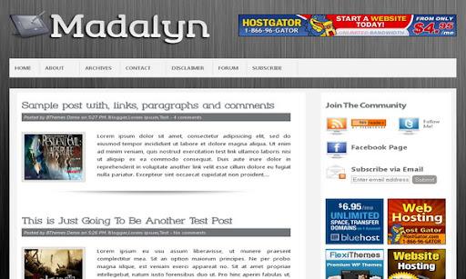 Madalyn Blogger Template
