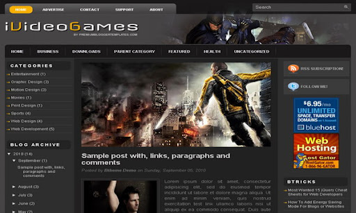 iVideoGames Blogger Template