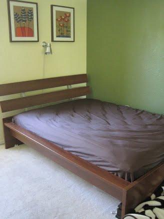 42541 fern circle fremont hopen ikea bed medium brown full size 75. Black Bedroom Furniture Sets. Home Design Ideas