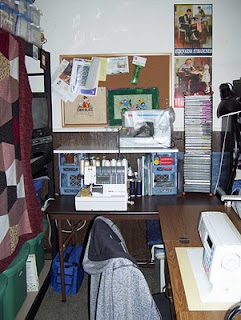 Want to come over and sew? This is usually where my visitors sit.