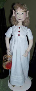 Full length view of the elf doll