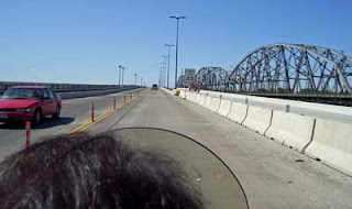 The bridge is a lot wider and smoother traveling