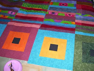 Progress report on the 'Squares' quilt.