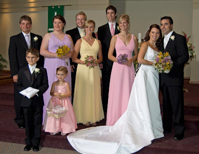 The wedding party.