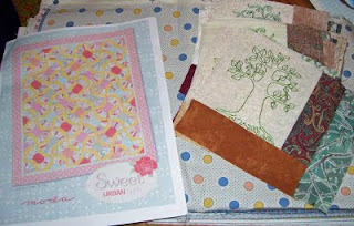 I collected together all my reproduction thrities fabrics for another quilt idea with this pattern from Moda.